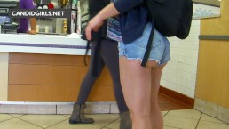 Candid Teen Booty In Jean Shorts