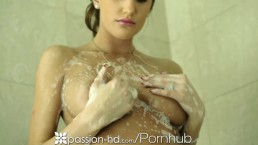 Passion-HD Big Tits Brunette Gets Shaved August Ames